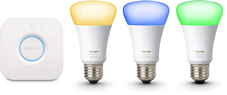 philips hue white color ambiance e27 led lampe starter set. Black Bedroom Furniture Sets. Home Design Ideas