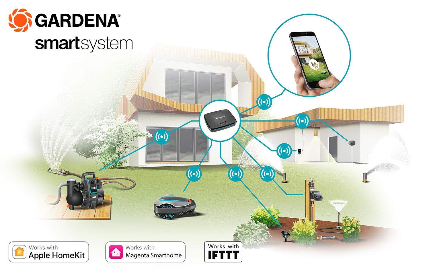 gardena smart sensor misst bodenfeuchte lichtst rke uvm. Black Bedroom Furniture Sets. Home Design Ideas