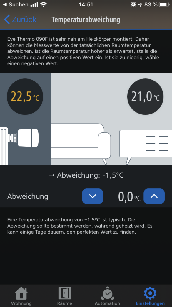 Eve Thermo 2019 - Das smarte Heizkörperthermostatim Test 32