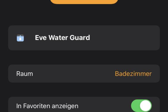 Eve Water Guard - Der smarte Wassermelder von Eve im Test 11