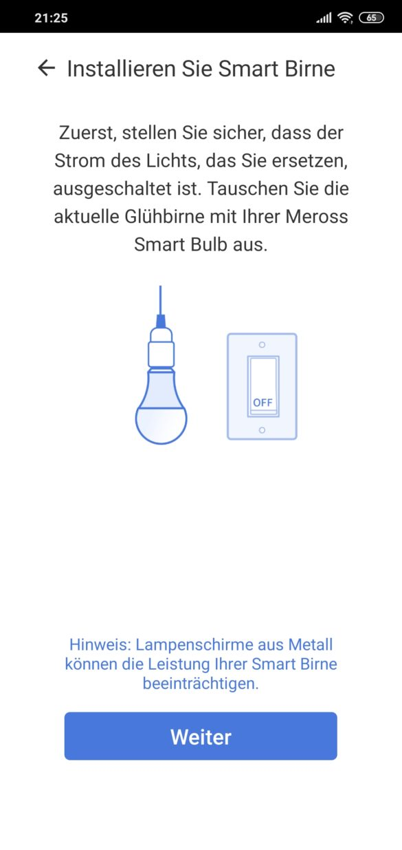 Smart WI-FI LED Bulb Meross MSL100 - im Test 9