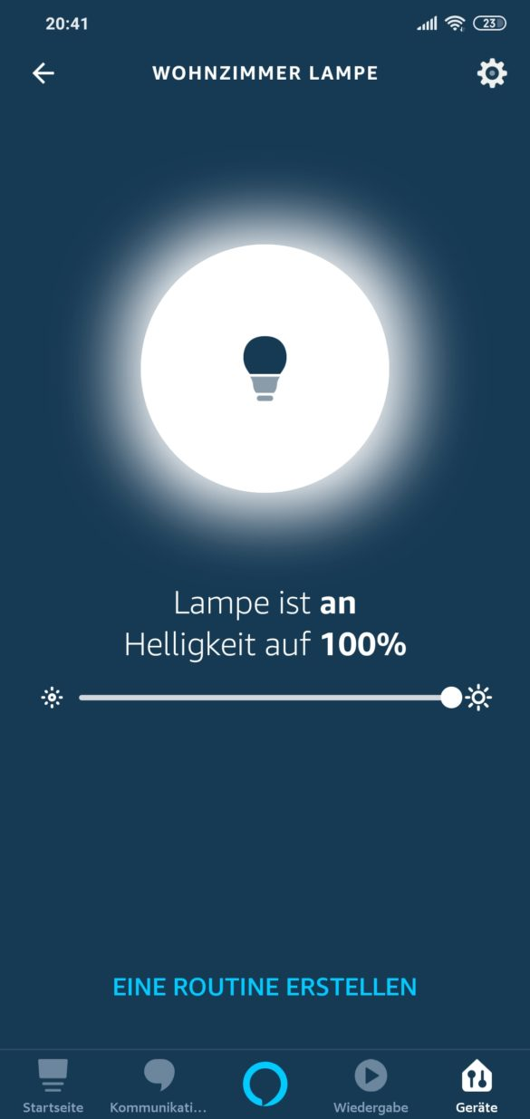 Smart WI-FI LED Bulb Meross MSL100 - im Test 22