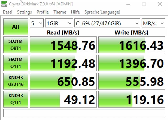 Sabrent Rocket 512 GB NVMe M.2 SSD im Test 12
